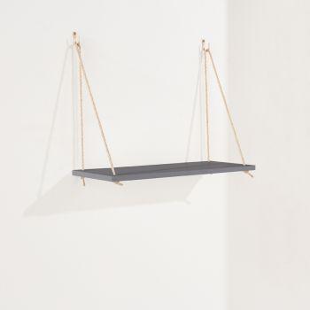 Thames Single Rope Shelf, Grey Effect Foil Finish