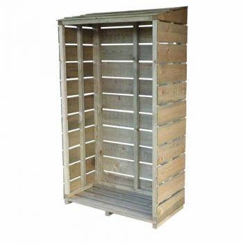 """Sawn 2' 11\"""" x 1' 5\"""" Tall Wall Pressure Treated Log Store"""