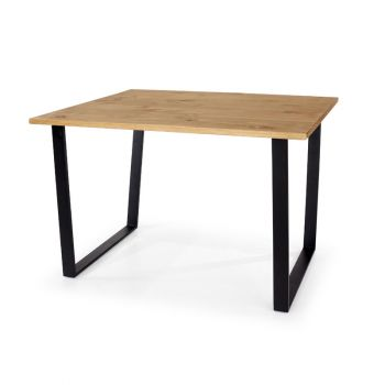 Texas Rectangular Dining Table with Black Metal Legs