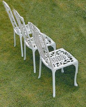 Victorian Diner Chair British Made, High Quality Cast Aluminium Garden Furniture