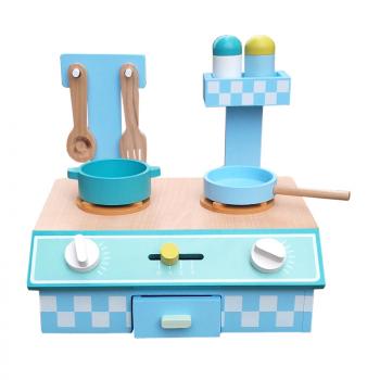 Wooden Kitchen - Blue