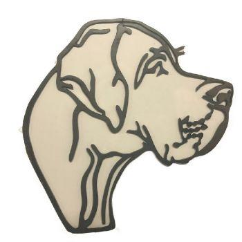Great Dane Dog Head Metal 2 Wall Art - Regular