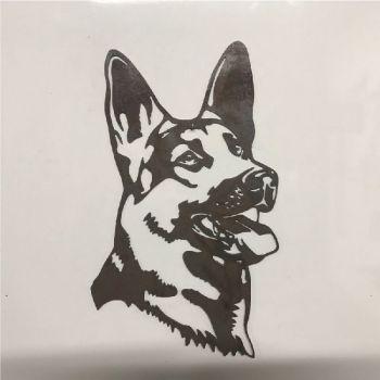 German Shepherd Dog Head  Metal Wall Art - Large