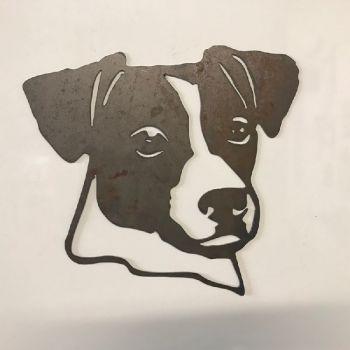 Jack Russell Dog Head Metal Wall Art - Regular