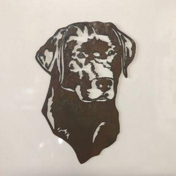 Labrador Dog Head Metal Wall Art - Large