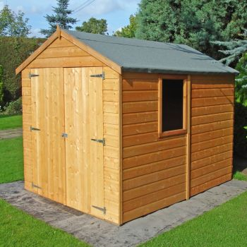 Warwick Double Doors Tongue and Groove Garden Shed Workshop Approx 8 x 6 Feet