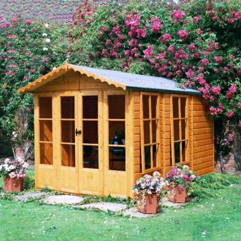 Westminster 13' x 7' Double Door with Two Large Opening Windows Summerhouse