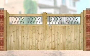 Windsor Low Driveway Double Gate 330cm Wide x 120cm High