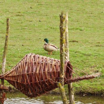 Wild Duck Nesting Basket - Round