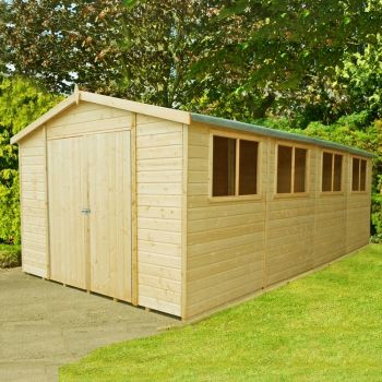 Workspace DD Tongue and Groove Garden Shed Workshop Approx 10 x 20 Feet