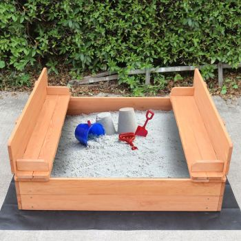 Kids Sandpit with Seating and Cover