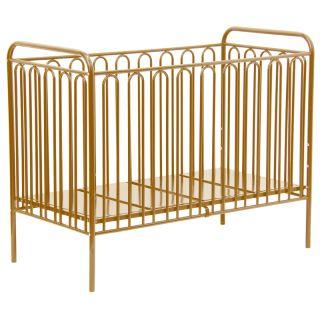 Kidsaw Kudl Kids Vintage Metal Baby Cot 150, Gold
