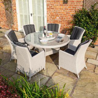 Prestbury 6 Seater Dining Set Natural Stone